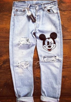 Jeans-Uomo-Mickey-Mouse