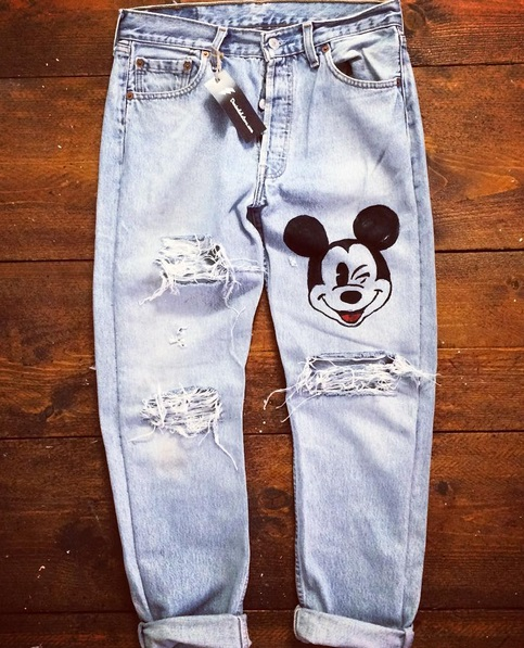 Jeans Uomo Mickey Mouse Flclab Store