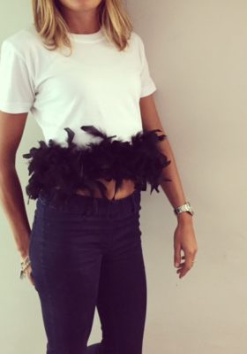 T-Shirt Donna Plumage Black